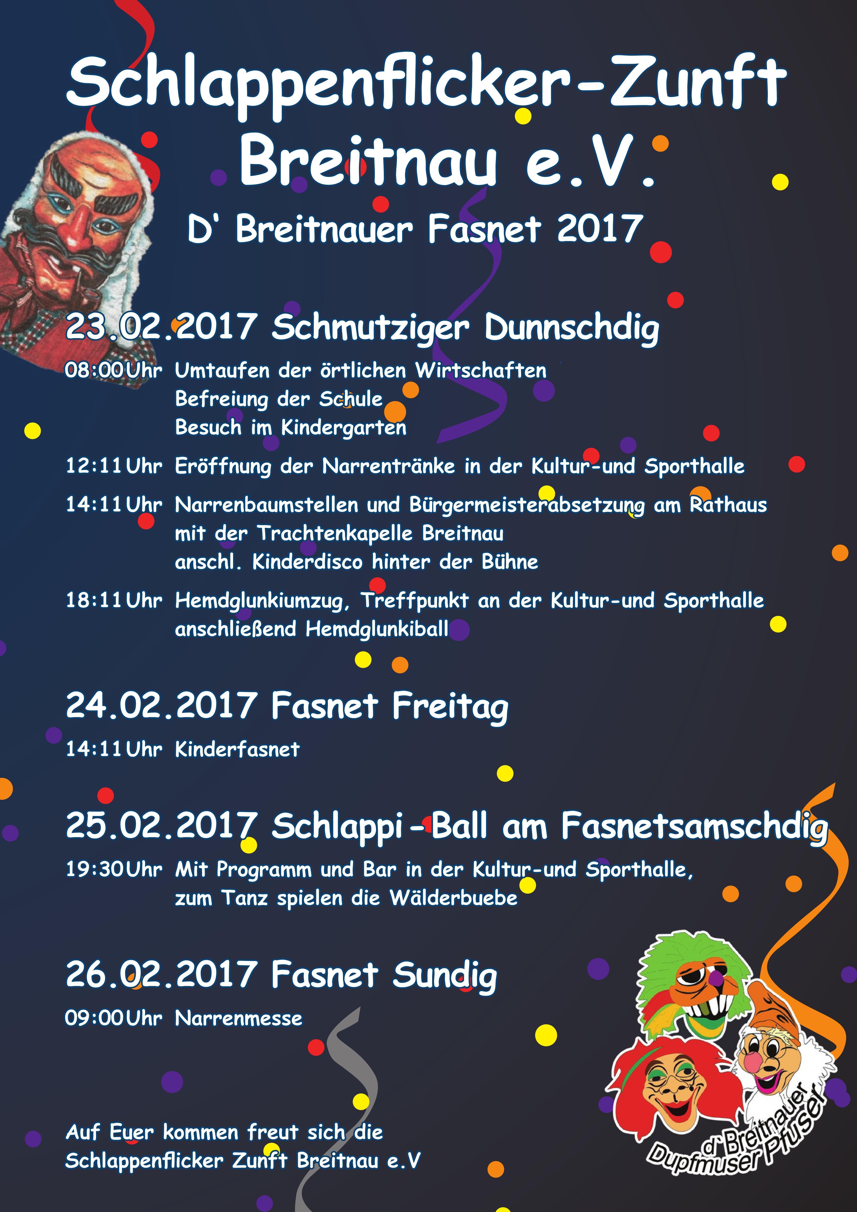 Fasnet 2017 in Breitnau