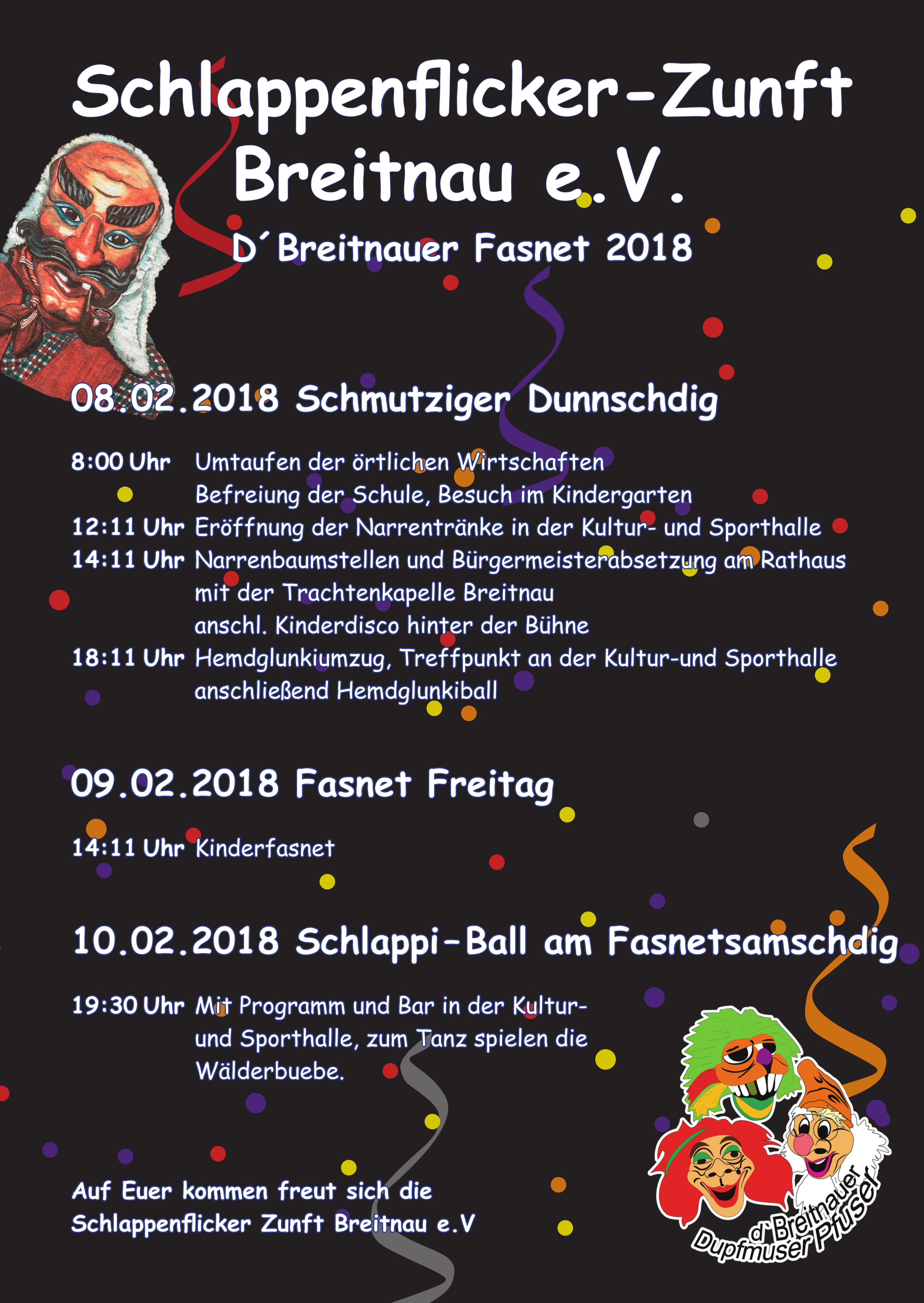 d´ Breitnauer Fasnet 2018